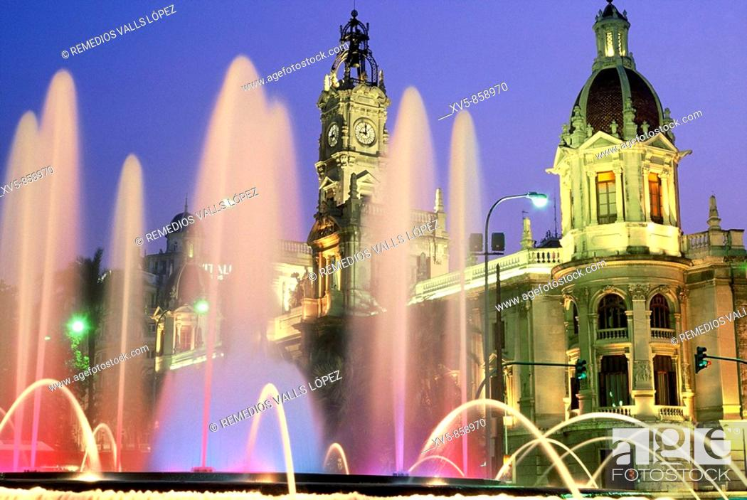 Stock Photo: Spain. Valencia. Cityhall.