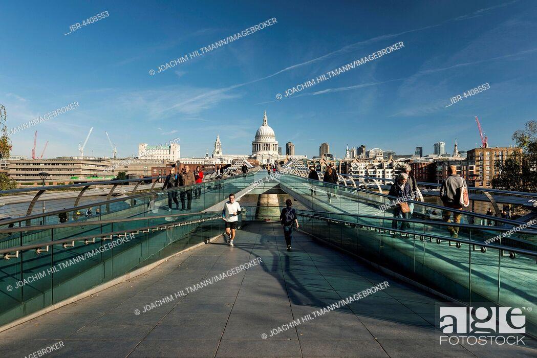 Imagen: Millennium Bridge and St Paul's Cathedral, London, England, United Kingdom.