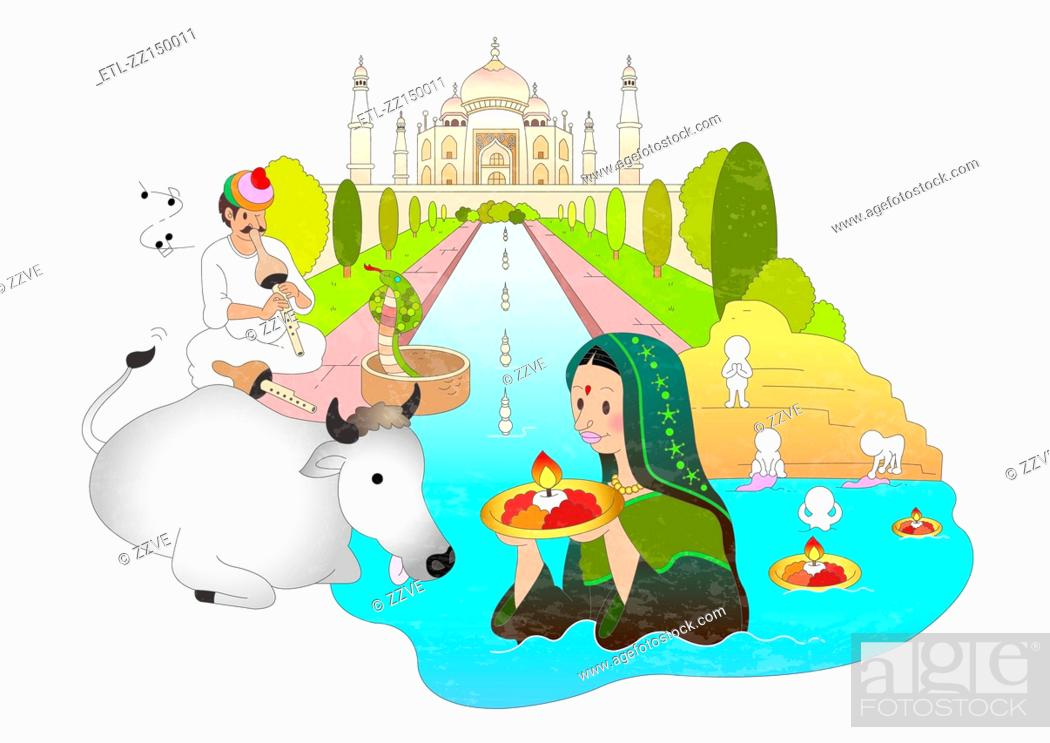 Stock Photo: Attractions of india.