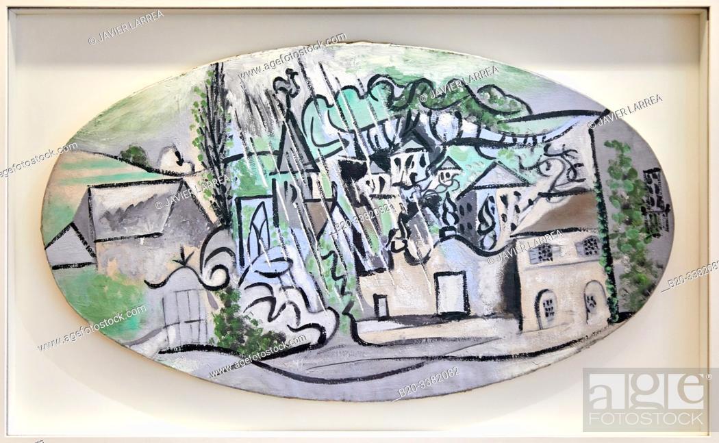"""Stock Photo: """"Boisgeloup sous la pluie"""", 1932, Pablo Picasso, Picasso Museum, Paris, France, Europe."""