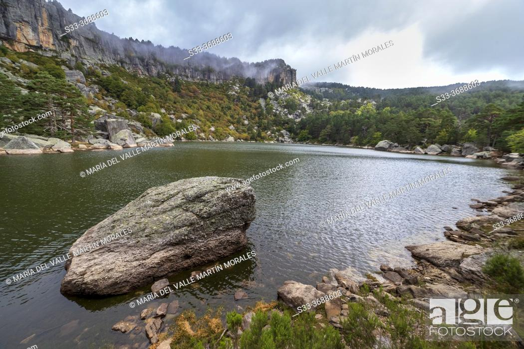 Stock Photo: The Black Lagoon on a cloudy day. Soria. Spain. Europe.