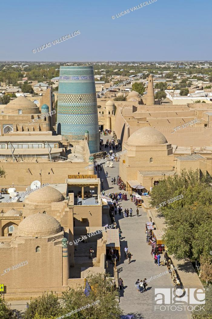 Stock Photo: Skyline, Khiva, Uzbekistan.