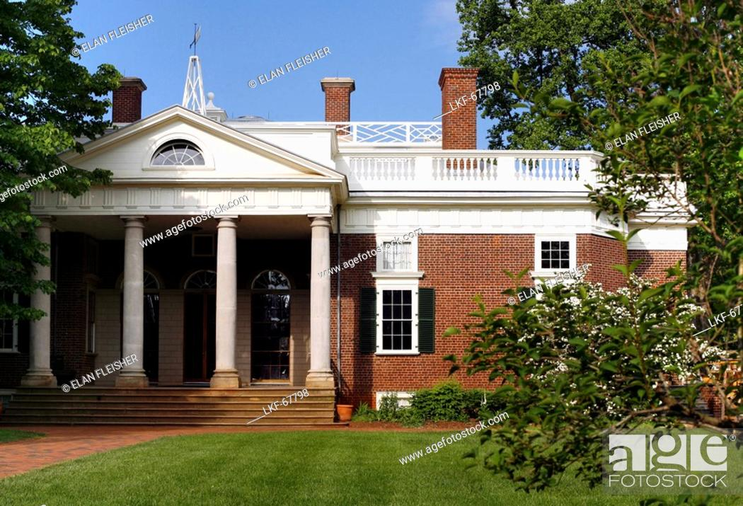 Thomas Jefferson S Home Monticello Virginia United States Usa