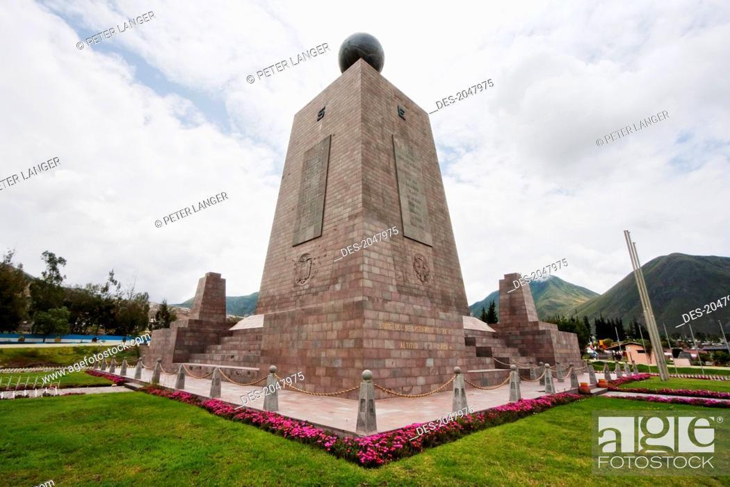Stock Photo: Mitad Del Mundo (Middle Of The World) Monument Near The Equator, Pichincha, Ecuador.