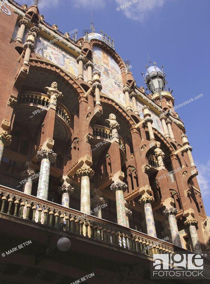 Stock Photo: Palau de la Musica Catalana, concert hall, Barcelona, Spain.