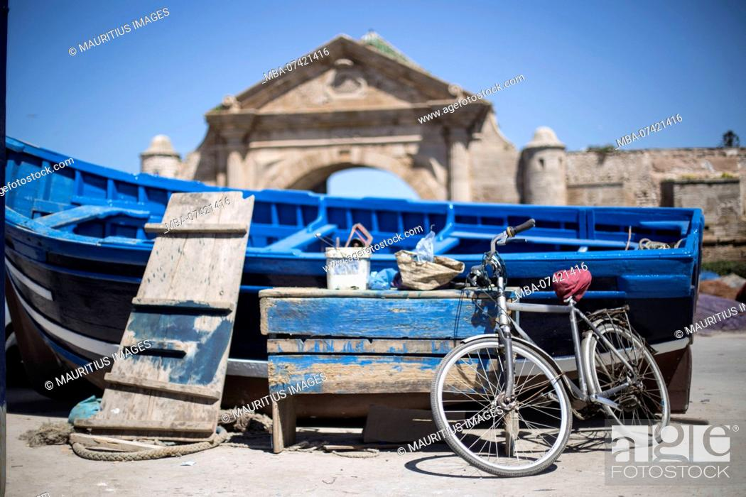 Stock Photo: Morocco, in the port of Essaouira.