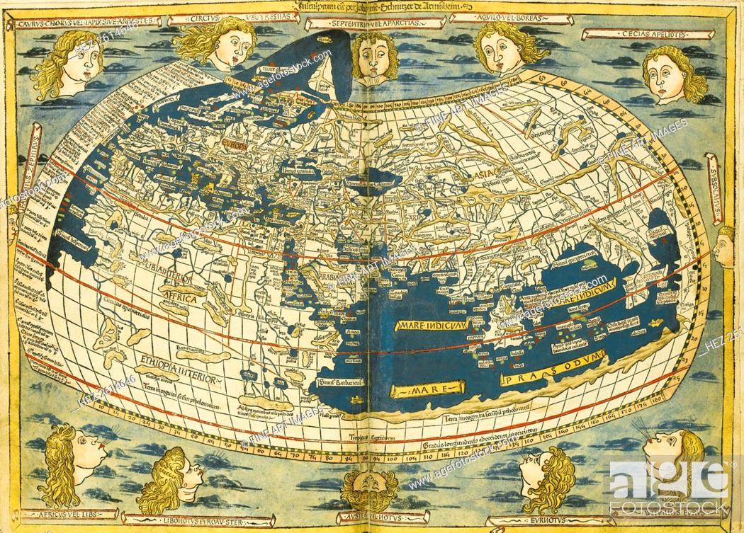 Imagen: Ptolemy World map. Artist: Germanus, Donnus Nicolaus (ca. 1420-ca. 1490).