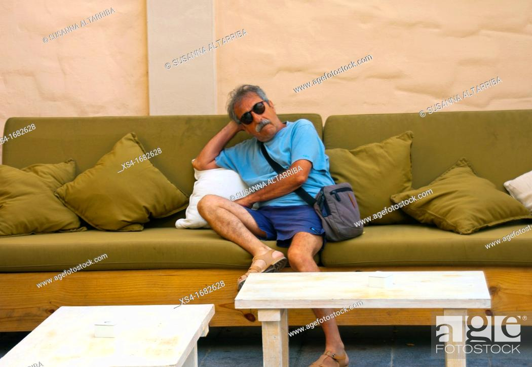 Stock Photo: Waiting in Es Pujols, Formentera, Balearic Island, Spain, Europe.