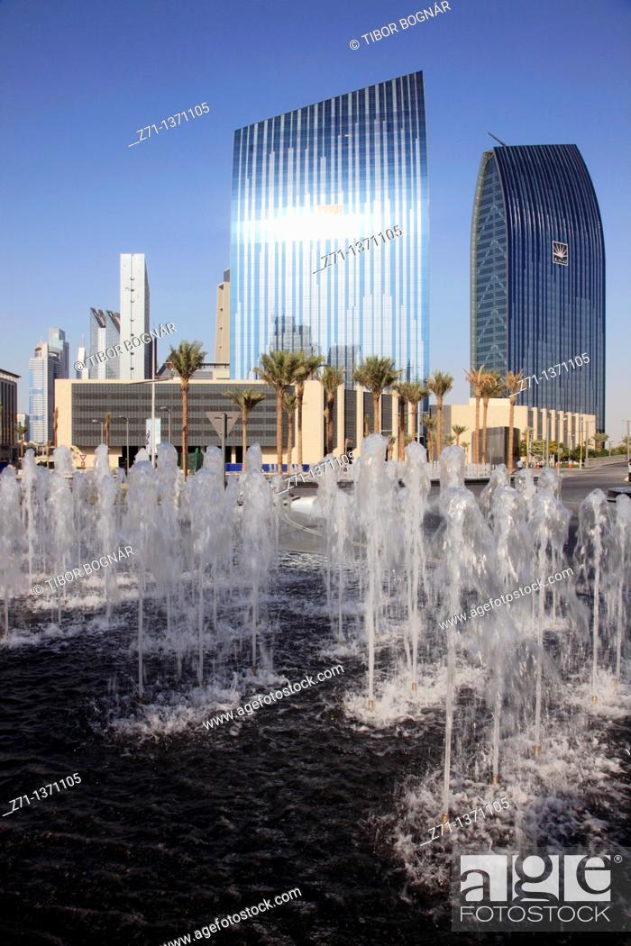 Stock Photo: United Arab Emirates, Dubai, Emaar Buildings.