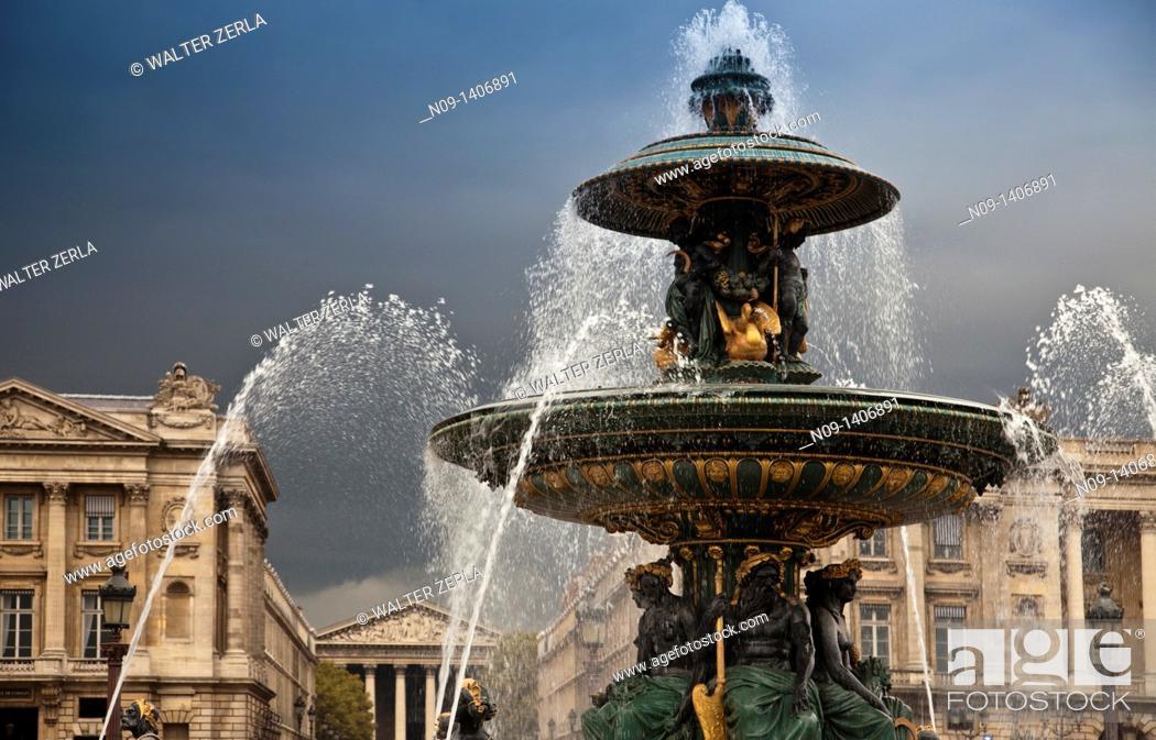 Stock Photo: Place de la Concorde, paris.