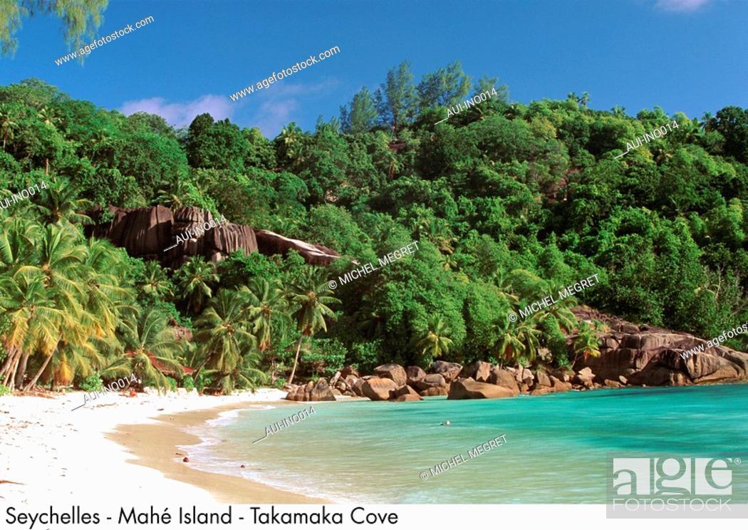 Stock Photo: Seychelles - Mahe Island - Takamaka Cove.