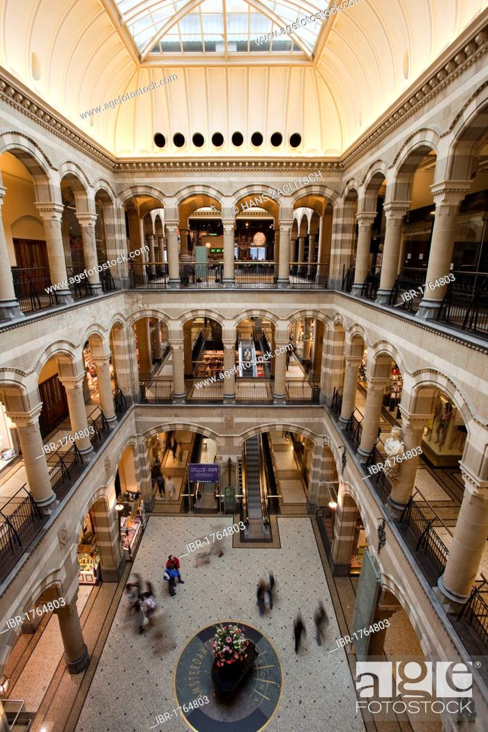 Magna Plaza shopping center in the old post office