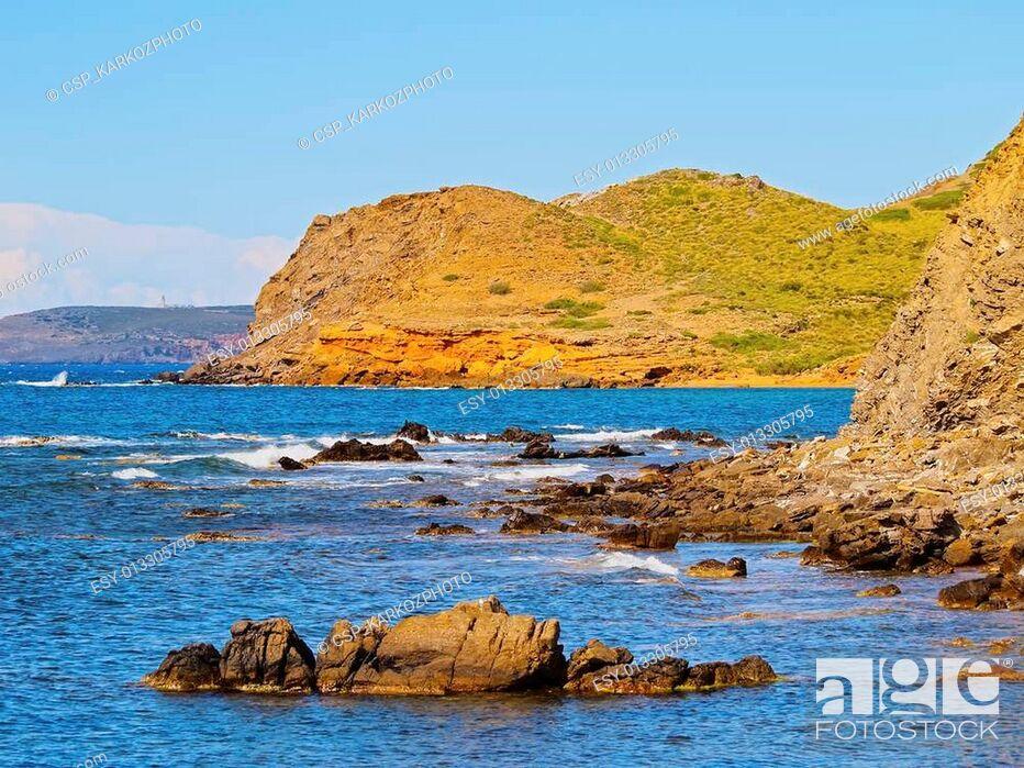 Stock Photo: Northern Coastline of Minorca.