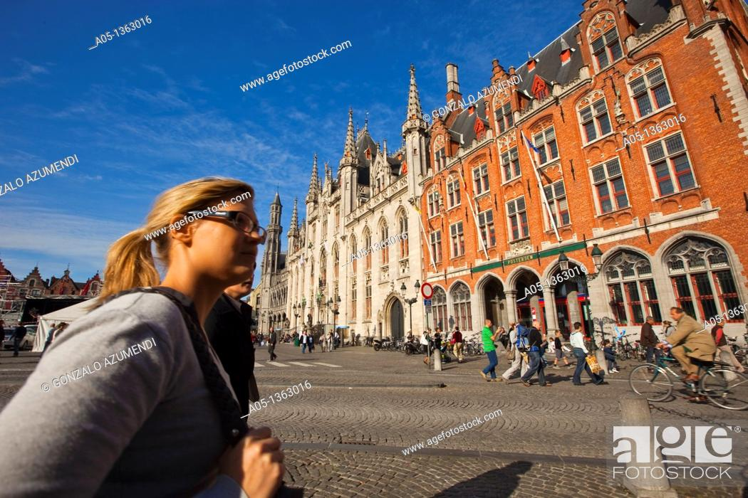 Stock Photo: Gouvernement Provincial, Bruges, Brugge, Flanders,Belgium, UNESCO World Heritage Site.