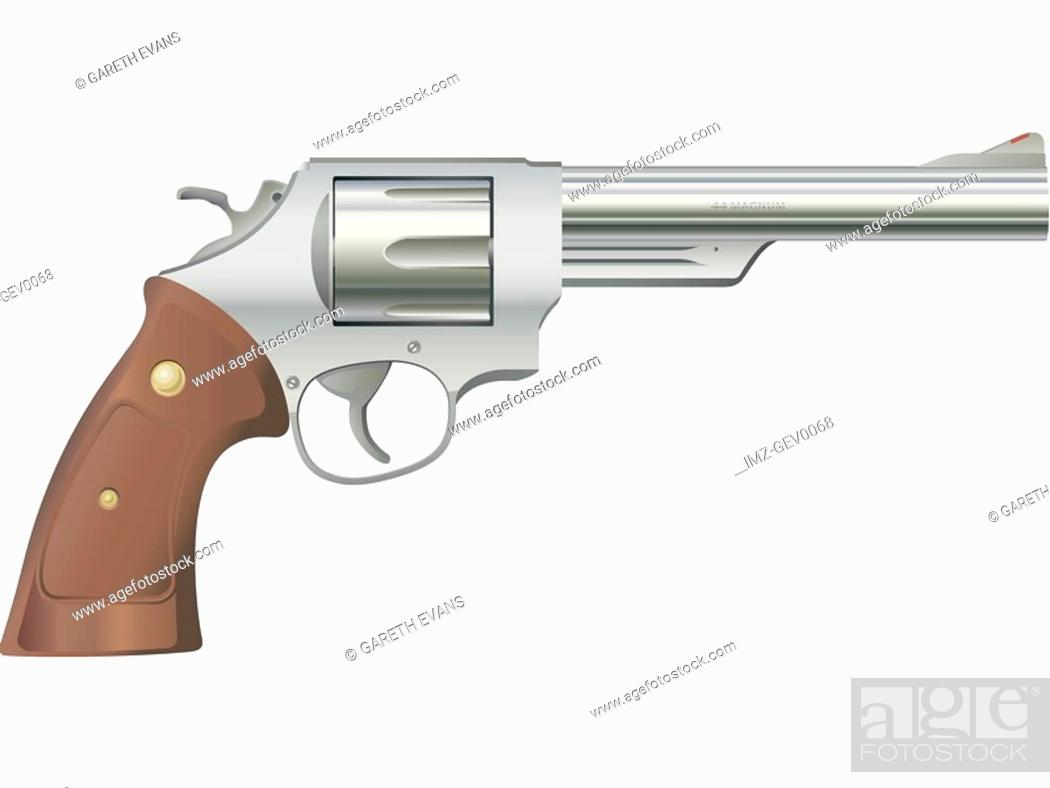 Stock Photo: A picture of a silver .44 Magnum cartridge.
