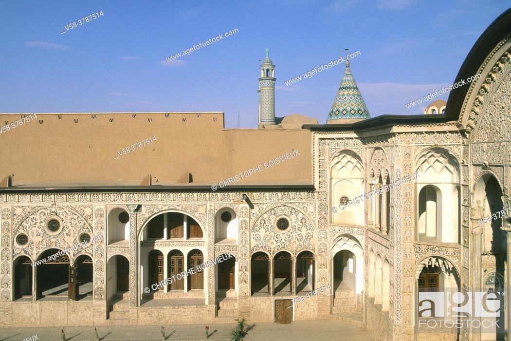 Stock Photo: Iran, Kashan, Tabatabaei House (19th C).