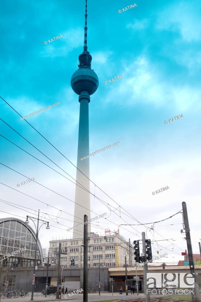 Imagen: Berlin Television Tower (Fernsehturm), Berlin, Germany, Europe.