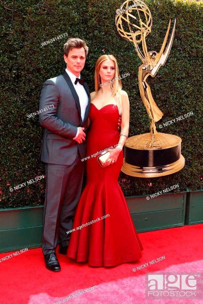 Stock Photo: 45th Annual Daytime Emmy Awards at Pasadena Civic Auditorium in Pasadena, California. Featuring: Darin Brooks, Kelly Kruger Where: Pasadena, California.