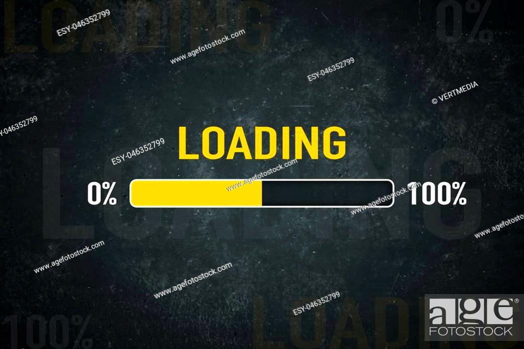 Stock Photo: Loading bar: 0% - 100%.