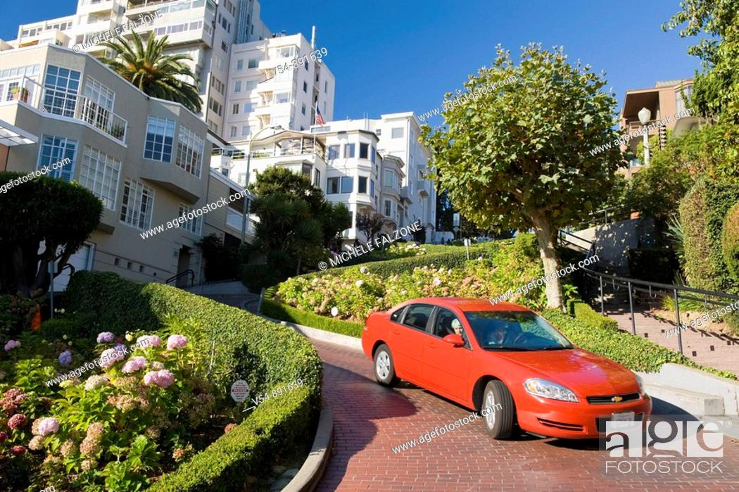 Stock Photo: Usa, California, San Francisco, Lombard Street.