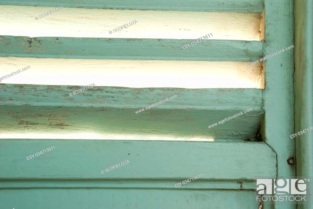 Stock Photo: The vintage window and the light from back side cloase up.