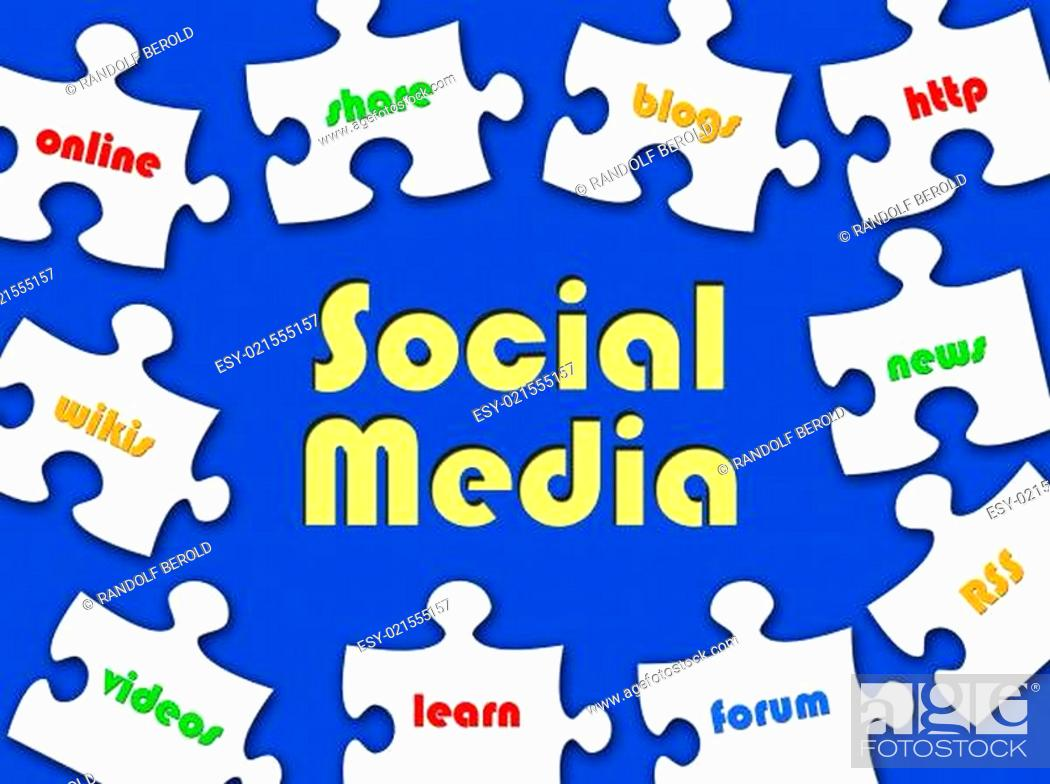 Stock Photo: Social Media - Business Puzzle.