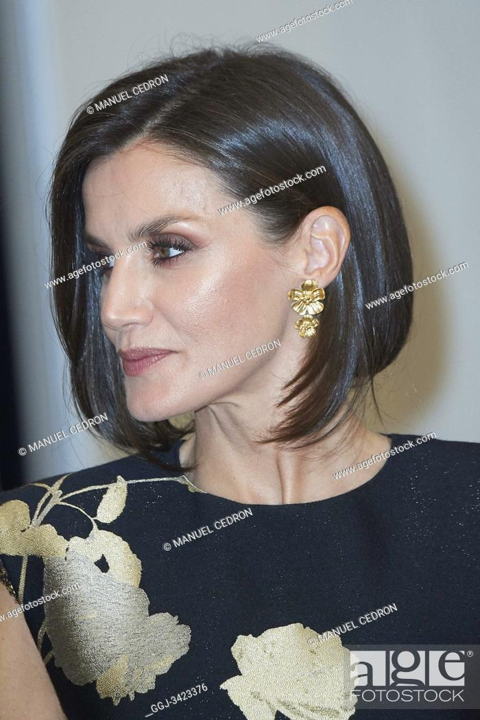 Stock Photo: Queen Letizia of Spain attended the 'Francisco Cerecedo' journalism award to Javier Cercas at Palace Hotel on November 28, 2019 in Madrid, Spain.