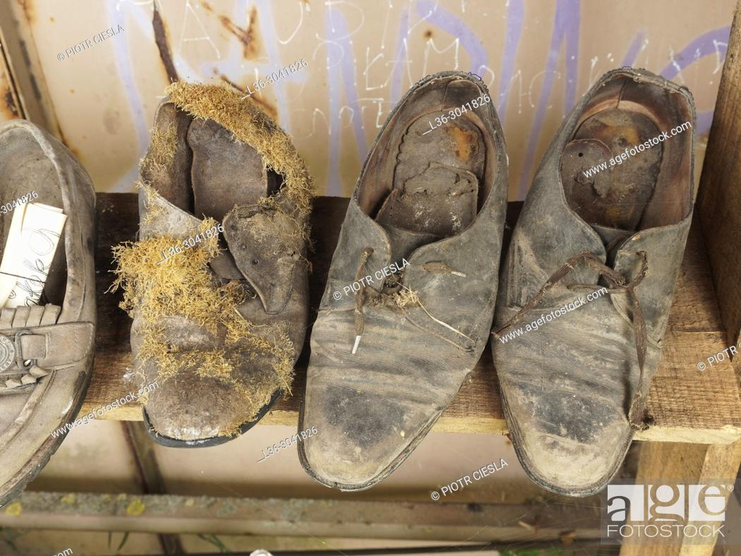 Stock Photo: Old shoes.