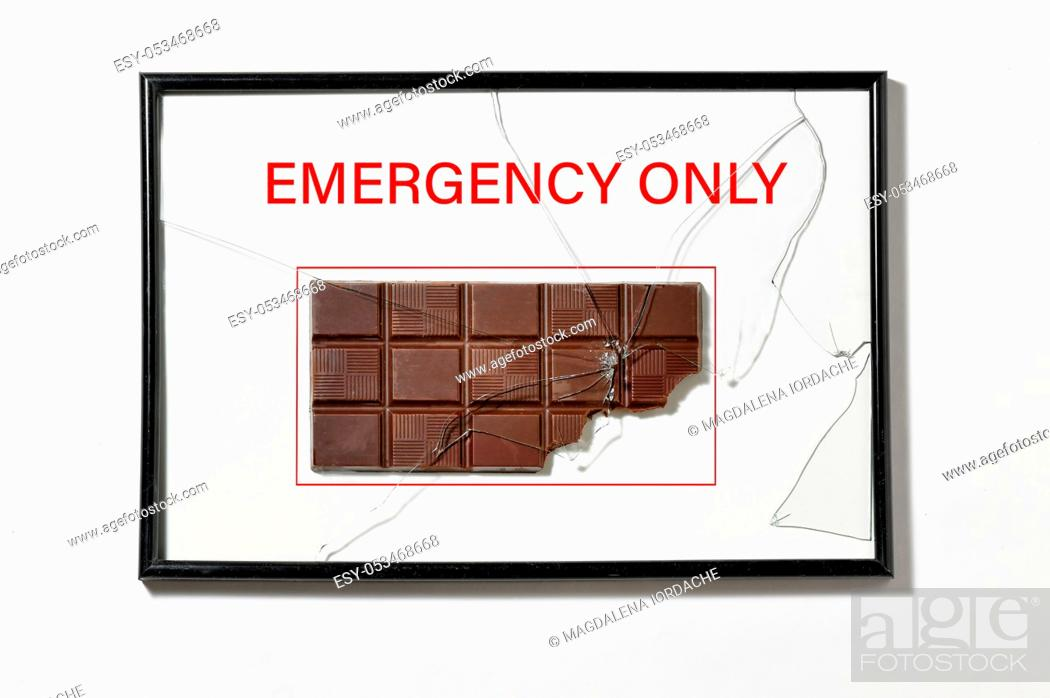 Stock Photo: Abstract Chocolate in Hose Cabinet Red Color Emergency Equipment.
