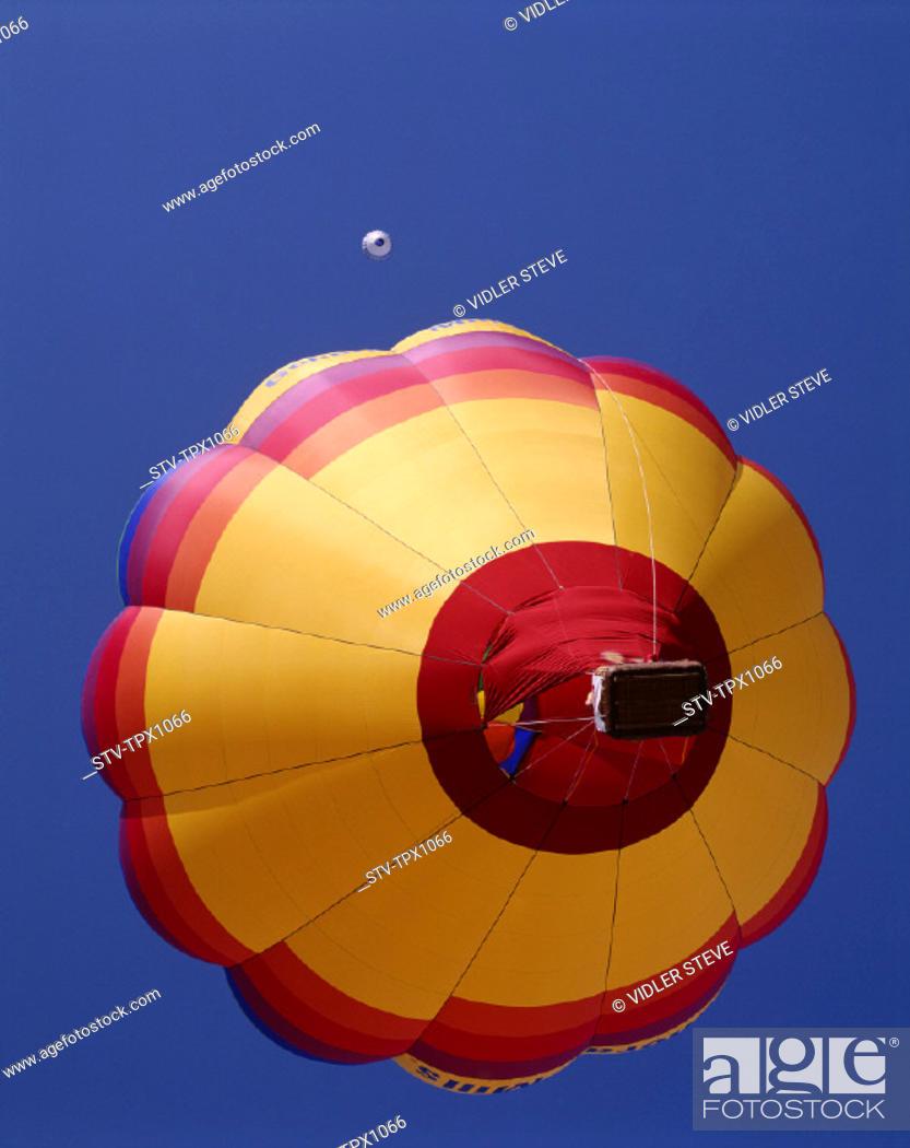 Stock Photo: Air, Albuquerque, America, Balloons, Colourful, Holiday, Hot, Landmark, New mexico, Sky, Tourism, Travel, United states, USA, Va.