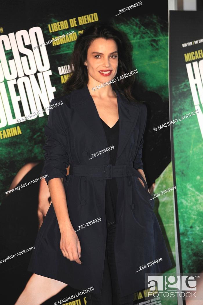 Stock Photo: micaela ramazzotti; ramazzotti; actress; celebrities; 2015;rome; italy;event; photocall; ho ucciso napoleone.