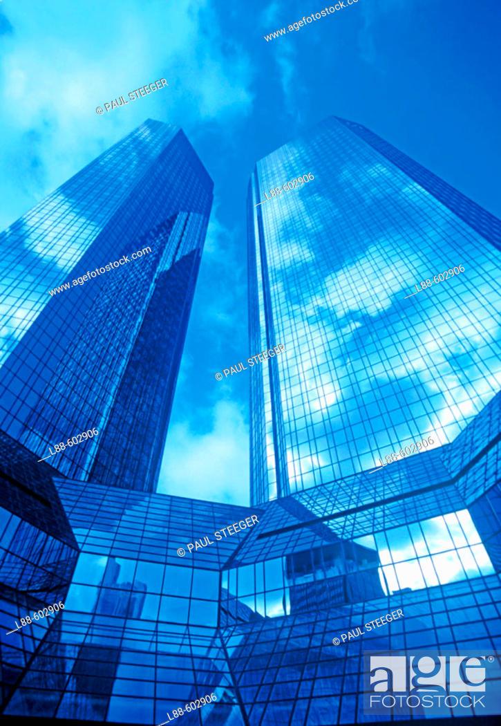 Stock Photo: Deutsche Bank. Frankfurt. Germany.