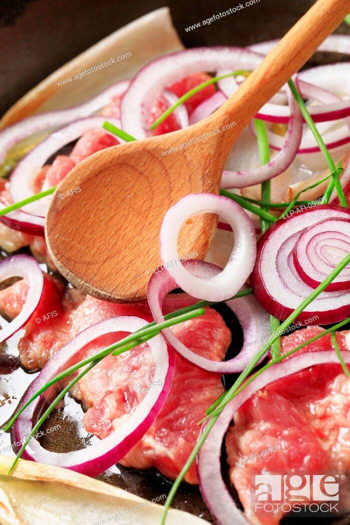 Stock Photo: pork.