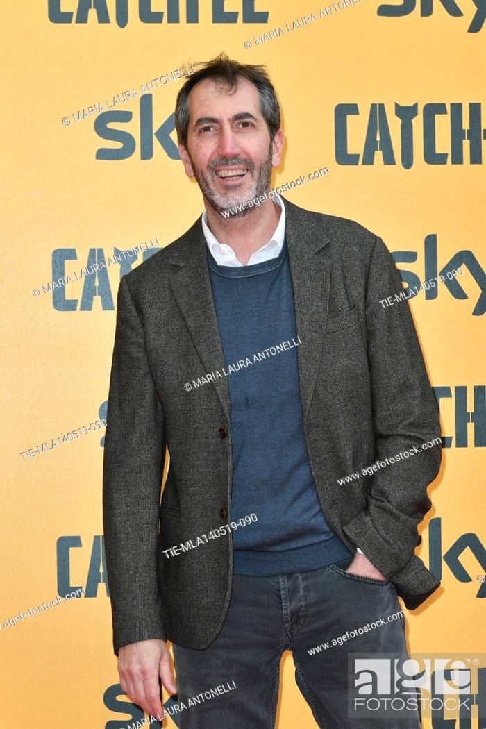 Stock Photo: Paolo Calabresi during the Red carpet for the Premiere of film tv Catch-22, Rome, ITALY-13-05-2019.