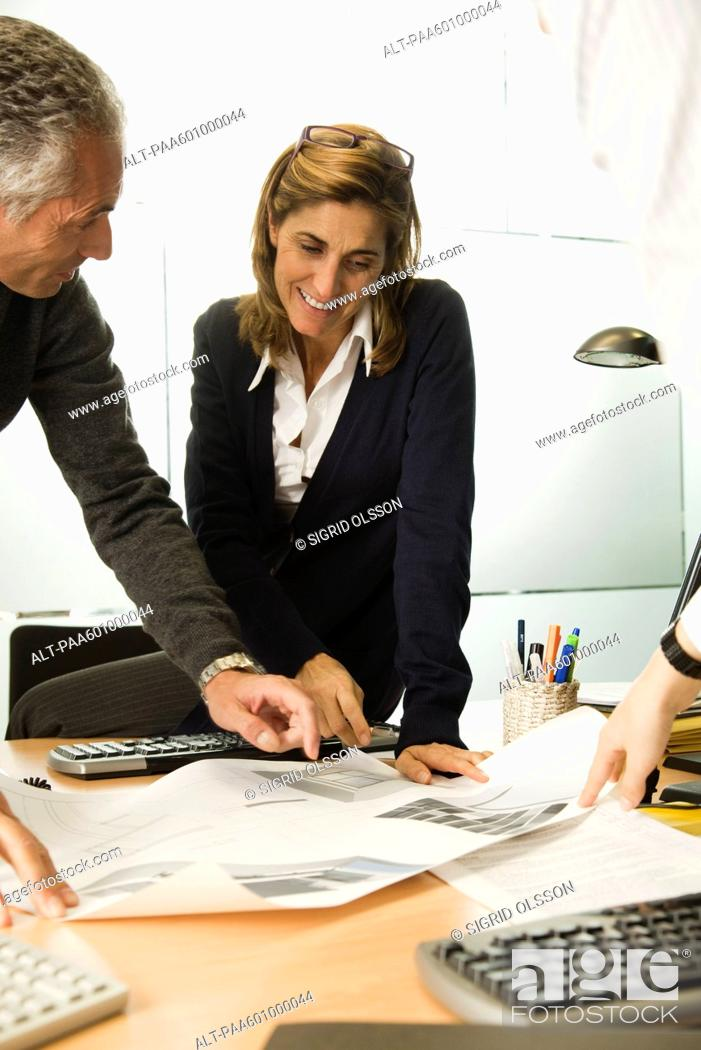 Stock Photo: Businesswoman working in office.