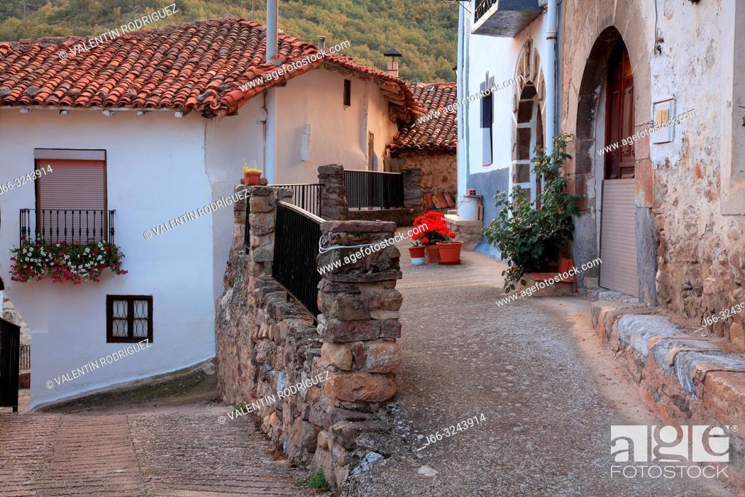 Imagen: Street in Villanueva de Cameros. La Rioja.