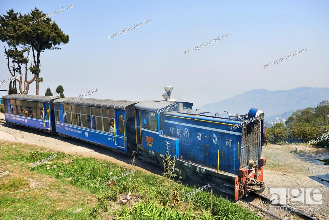 "Stock Photo: The Darjeeling Himalayan Railway, also known as the """"Toy Train"""", is a 2 ft (610 mm) narrow gauge railway that runs between New Jalpaiguri and Darjeeling in."