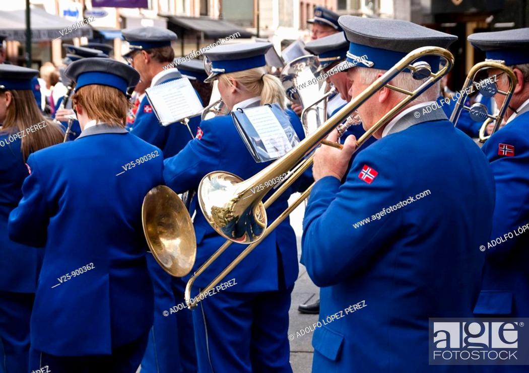 Stock Photo: Music band. Norway, Oslo.