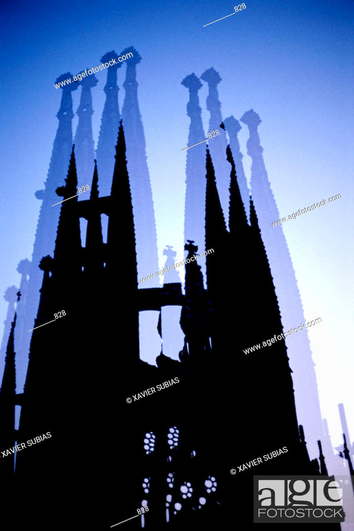 Stock Photo: Temple of The Sagrada Familia by Gaudí. Barcelona. Spain.
