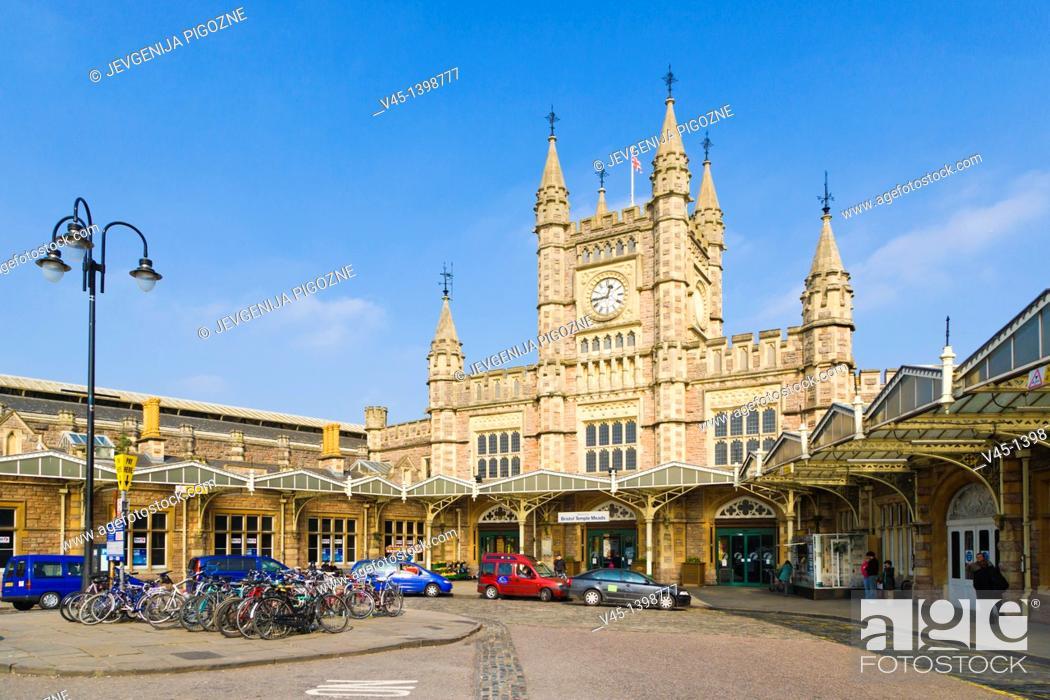 Stock Photo: Bristol Temple Meads Rail Station, Bristol, Gloucestershire, England, UK.
