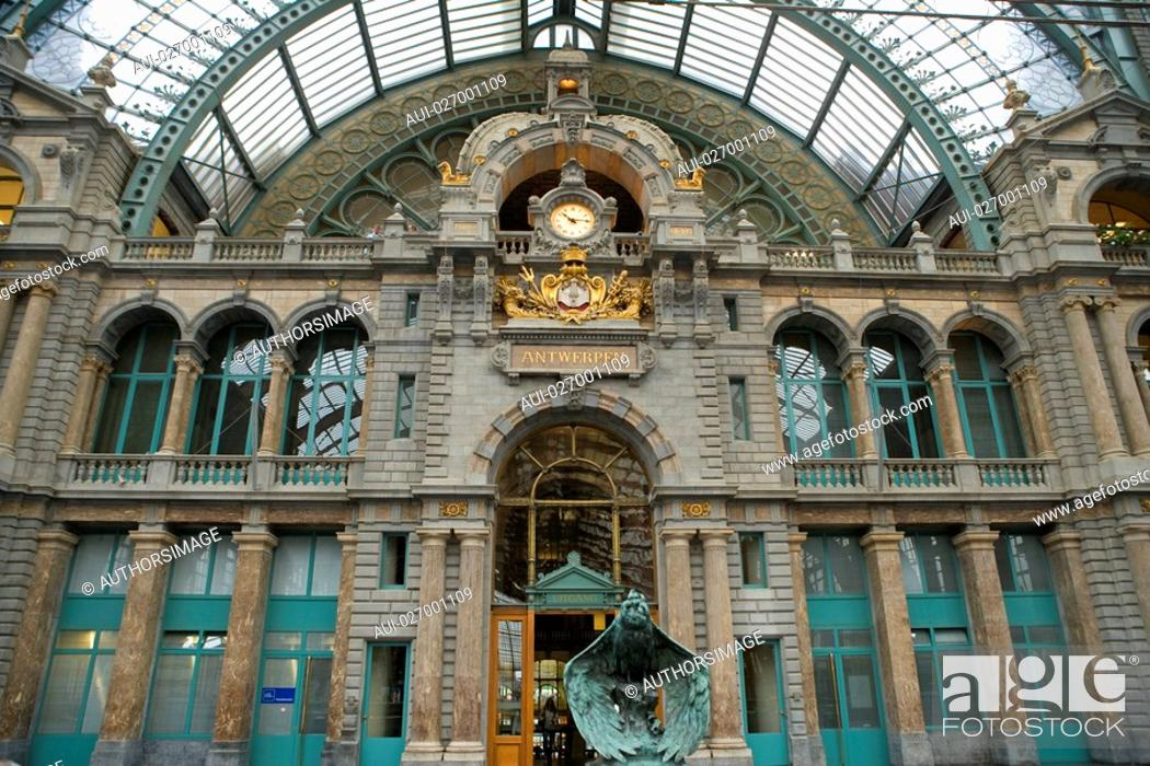 Stock Photo: Belgium - Flanders - Antwerp - Central Station Antwerpen Centraal Station.