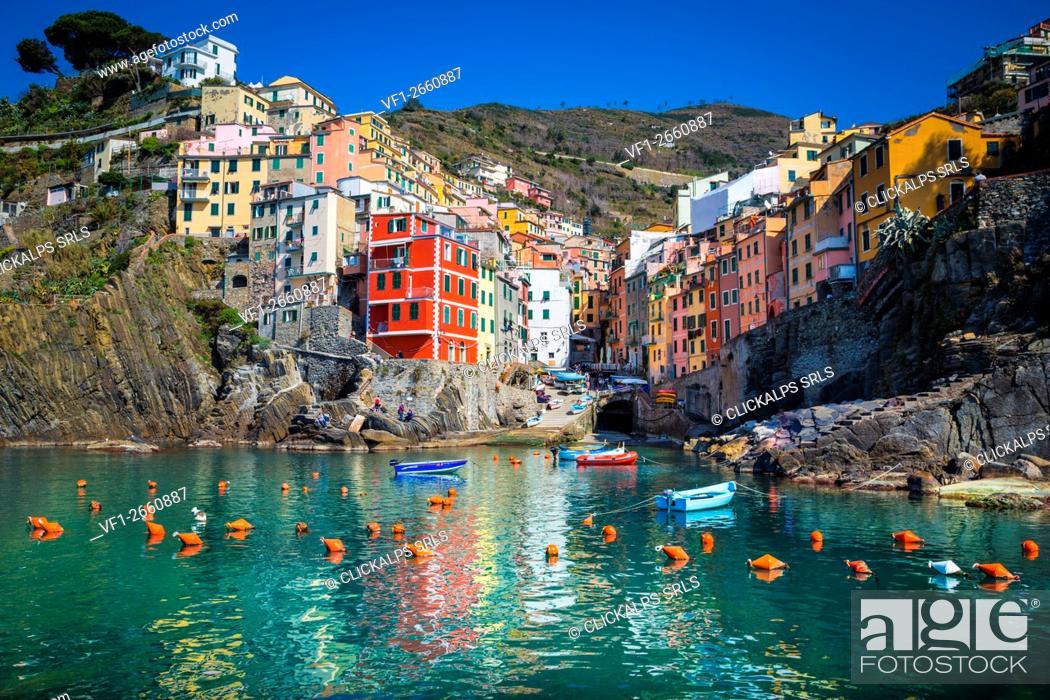 Stock Photo: Riomaggiore, Cinque Terre, Liguria, Italy.