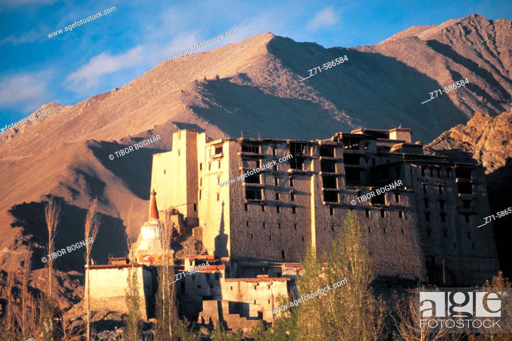 Stock Photo: Leh, Leh Palace. Ladakh. Jammu & Kashmir. India.