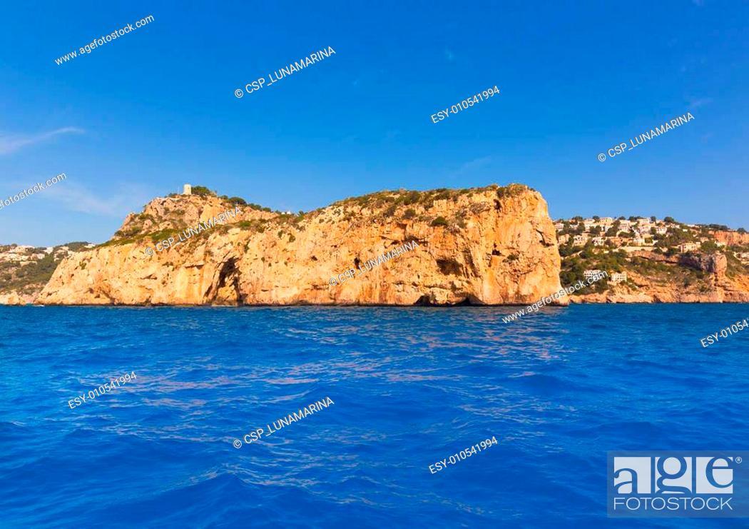Stock Photo: Javea Isla del Descubridor Xabia in Alicante.