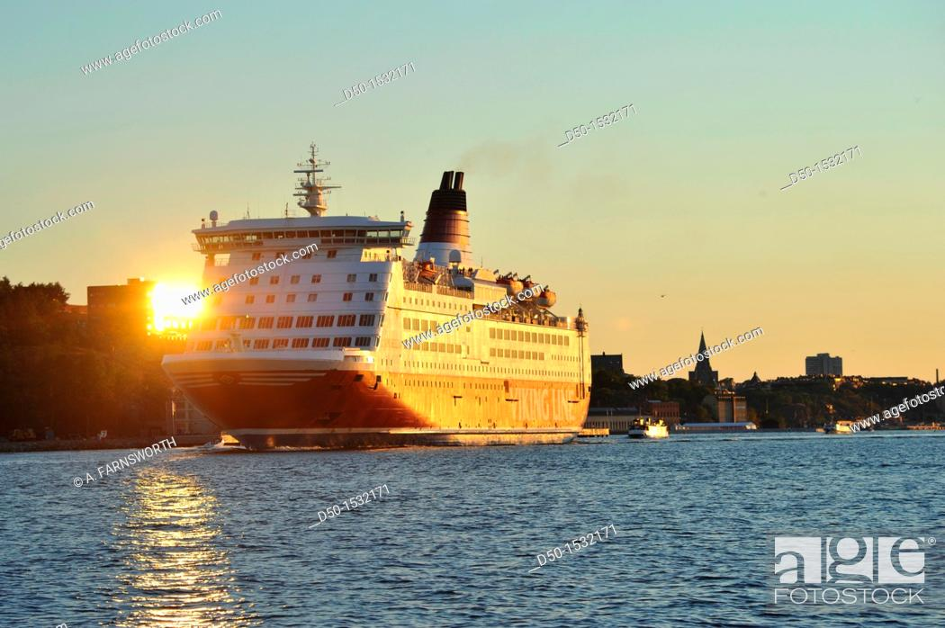 Stock Photo: STOCKHOLM SWEDEN Viking Line ferry to Finland.