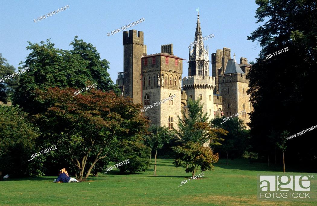 Stock Photo: Cardiff Castle, Cardiff, Wales, United Kingdom, Europe.