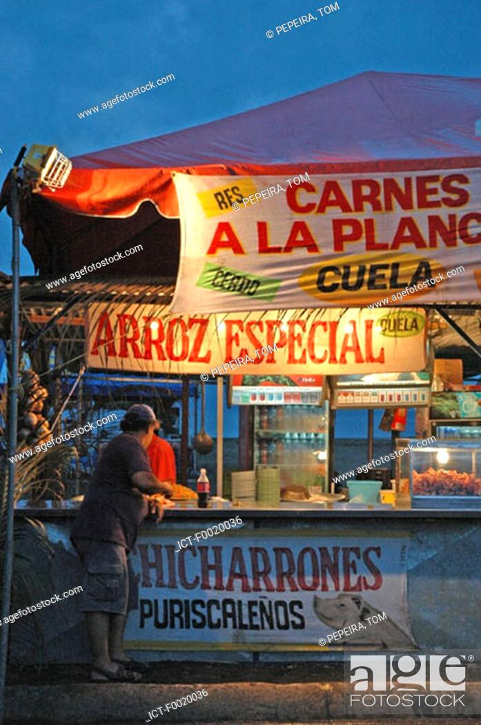 Stock Photo: Costa Rica, Puerto Limon, during carnival, sandwiches.