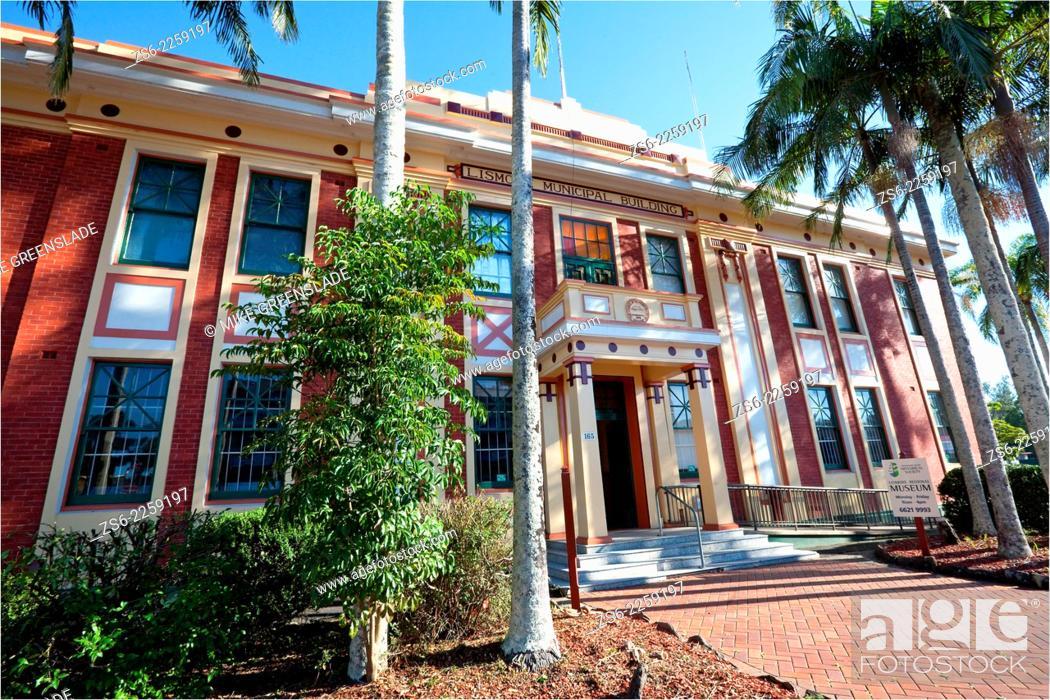 Stock Photo: Lismore Museum, Lismore Municipal Building, NSW, Australia.