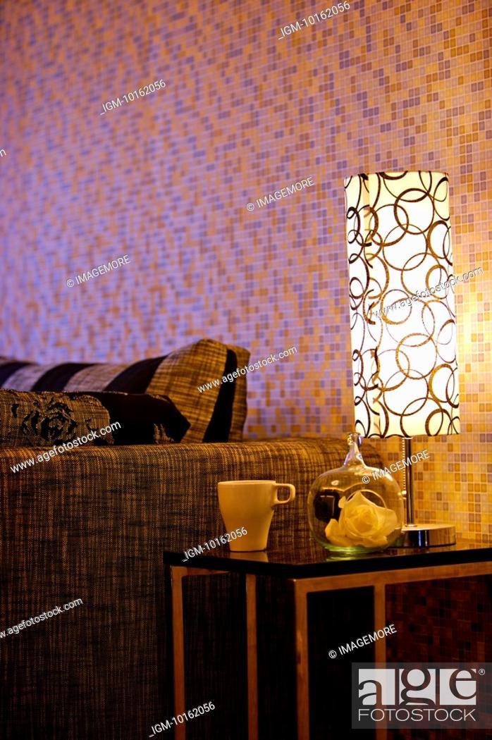 Stock Photo: Modern Interior Design - Living Room Corner.