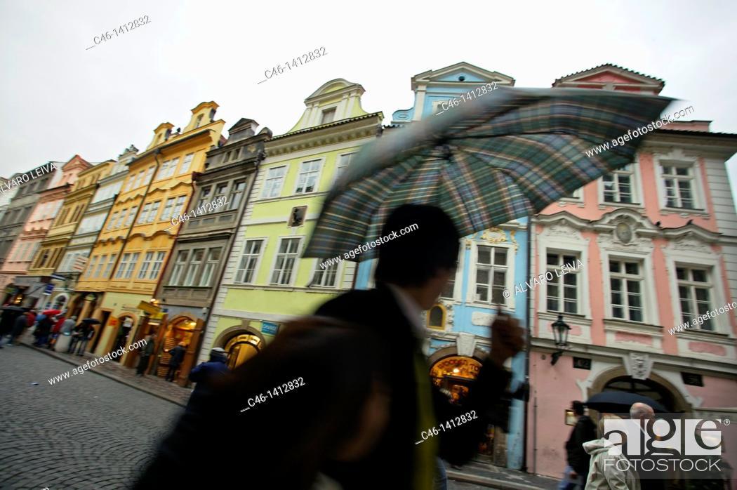 Stock Photo: Mostecka street, Mala Strana, Prague, Czech Republic.